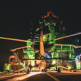 Night Operations by Caeron Roberts - Transportation Helicopters ( operations, helicopter, night, flying, aviation, engineering, wildcat )