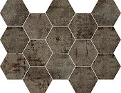 Mosaik Hexagon Metal Steel