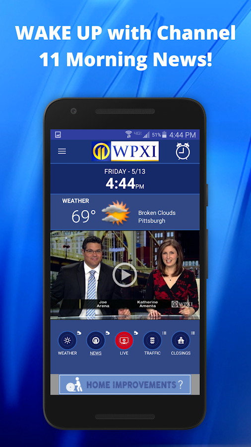 WPXI Channel 11 Wake Up App- screenshot