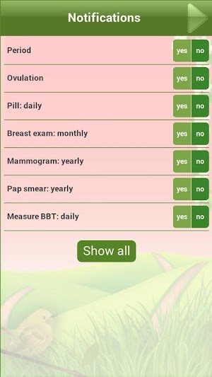 19 Ovulation & Period Calendar App screenshot