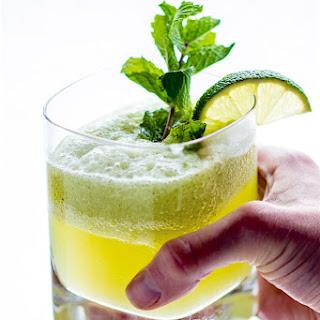 Healthy Sparkling Mint Melon Limeade.