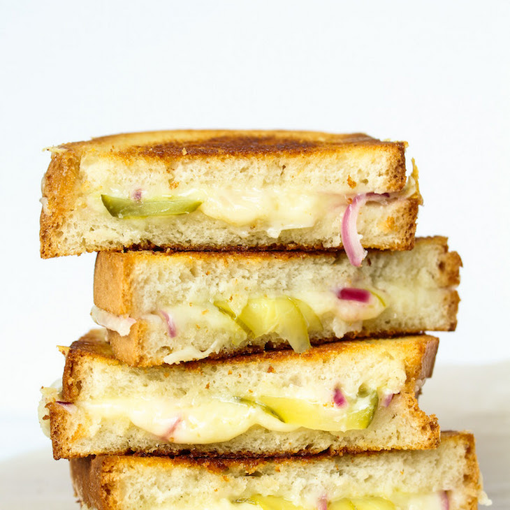 Grilled Cheese with Pickles & Red Onions Recipe