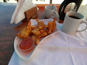 Photo: Coconut Prawns and Filter Coffee for Breakfast