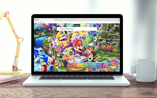 Super Mario Party New Tab Theme