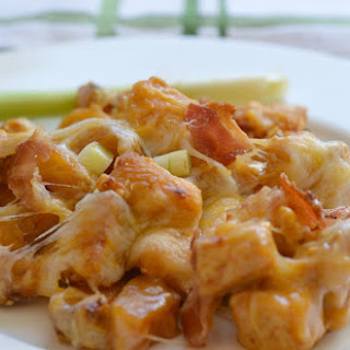 Extra Cheesy, Buffalo Chicken, and Potato Casserole
