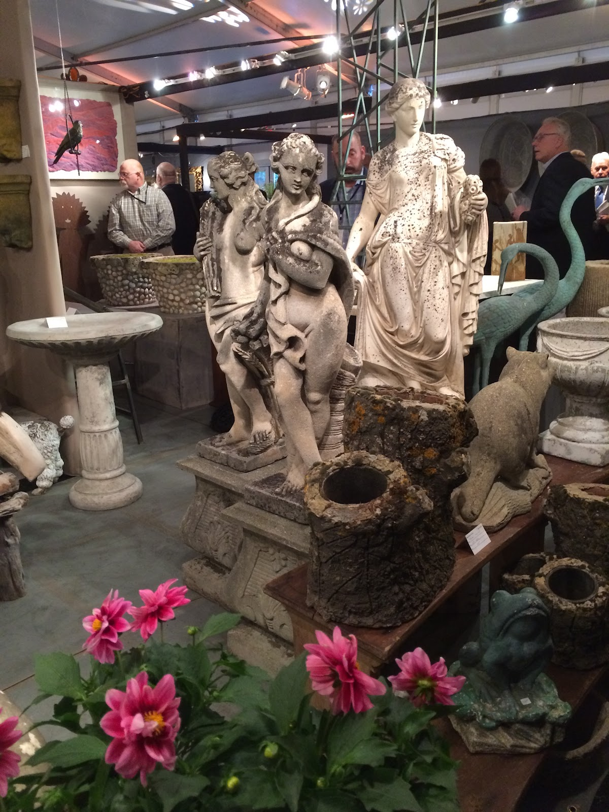 And The BEST Part Is That Mariau0027s Keen Eye For Art And Antiques And All  Things Beautiful    Snagged The Incredible Four Seasons Statues!