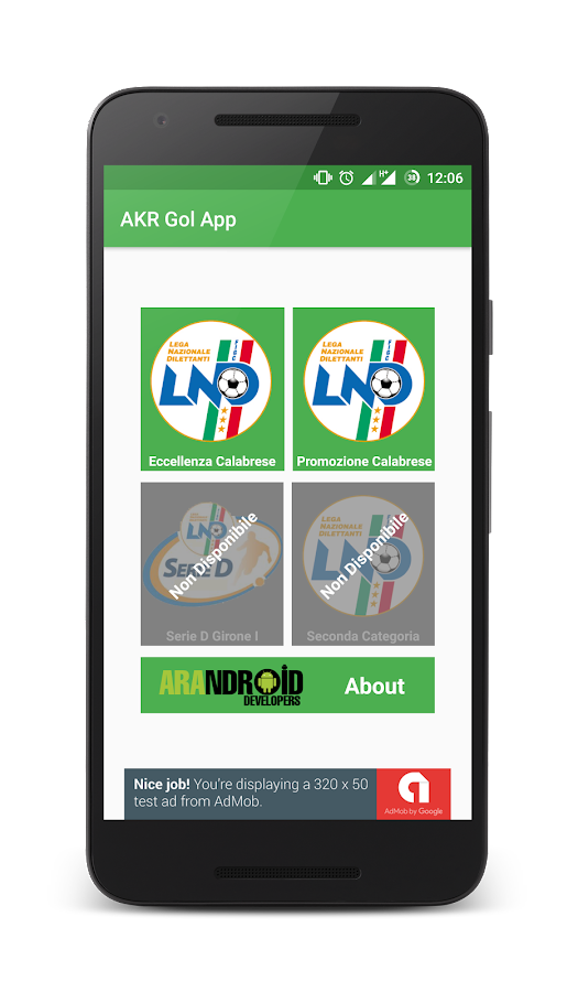 AKR GOL APP- screenshot