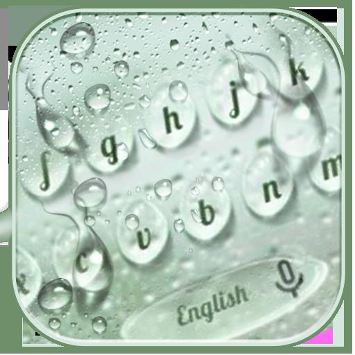 Rain Drops Keyboard Theme