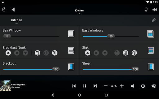 Control4® for Android Screenshot