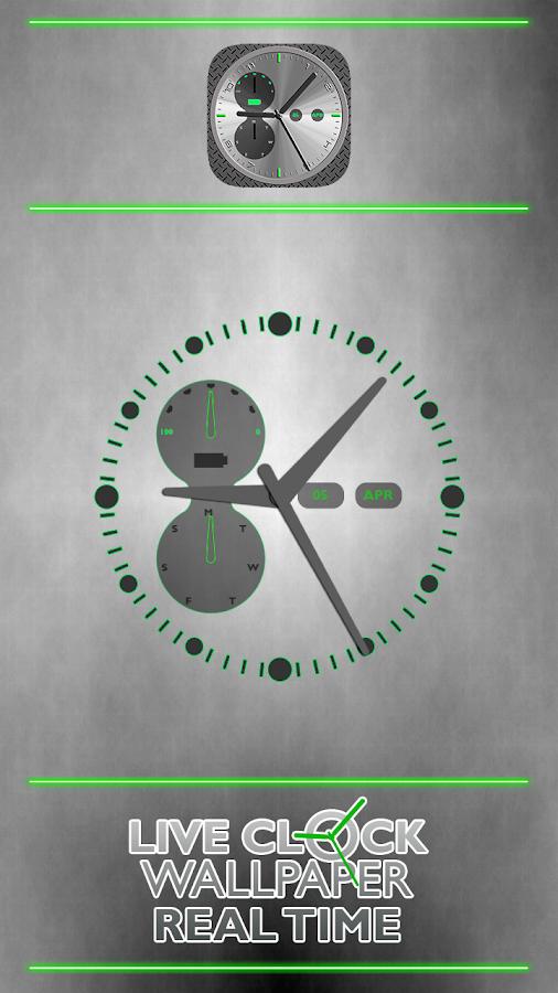 Живые Обои Часы В Воде