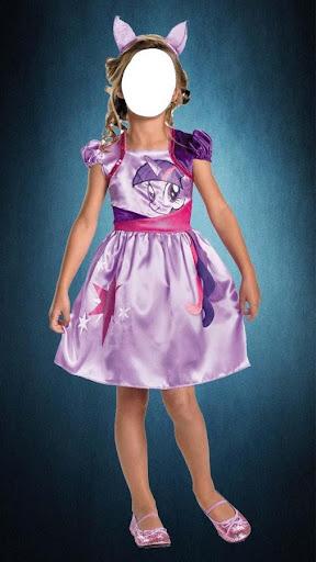 Kid Girl Fashion Photo Montage