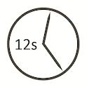 Uhrzeit mit Sekundenanzeige icon