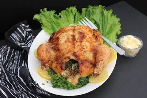 """Lemon Butter Roasted Chicken""""This succulent chicken is baked to perfection. The herbs..."""