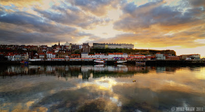 Photo: Good morning G+  This is Whitby Harbour, the famous landing place of Dracula in Bram Stokers book, we visited it a few years back and it has two parts, one that is very much aimed at the tourists and another that is as it was for many years. It is a very Gothic place and a wonderful place to visit. I thought it was apt for today as its Halloween.  I have had this image for a while and I know it has issues, there is blow out in the sky and the only way you can get this scene is to shoot through glass. But even with its flaws I still like it, I hope you do too.  I have a bit of busy day but I will back in a bit, have a great Halloween :)