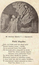 Photo: Obrazek o wym. 7 x 11.5 cm. Na odwrocie modlitwa. IMPRIMATUR Kraków, 2 sierpnia 1920. Dopisek: Pamiątka kolędy od ks. Juljana Lisowskiego.