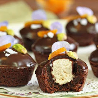 Nougat-Stuffed Brownie Bites
