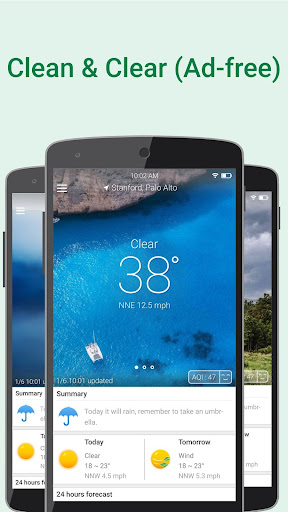 WeatherClear - Ad-free Weather, Minute forecast 1.2.6 screenshots 1