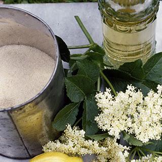Homemade Elderflower Liqueur.
