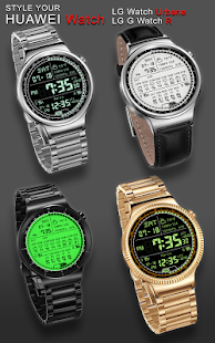 M01 WatchFace for Android Wear - náhled