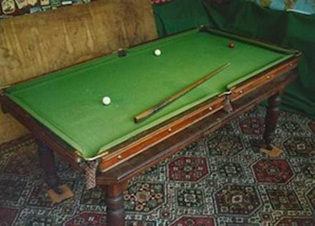 Old english billiard table