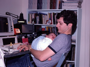Photo: New additions in summer 1983!  Number one son born and new IBM PC (the original) distract W2PA from operating.
