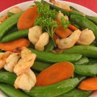 Stir-fry Sweet Snap Peas with Shrimp