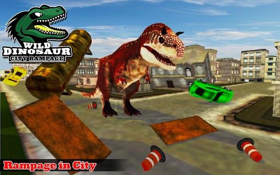 Wild Dinosaur City Rampage Attack Simulation apk screenshot