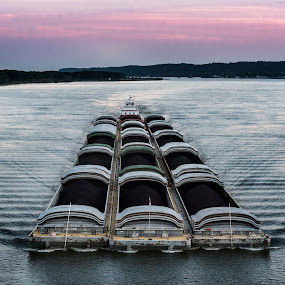 Commerce on the Mississippi by Amy Laskye - Transportation Boats ( mississpi river, river, commerce )