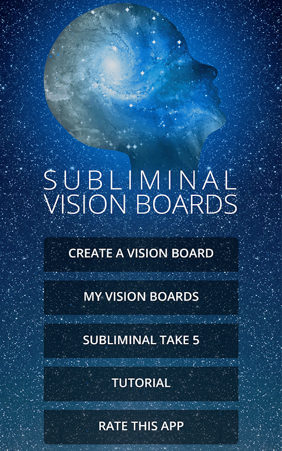 Subliminal Vision Boards App Screenshot