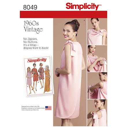 60-talsklänning, Simplicity 8049