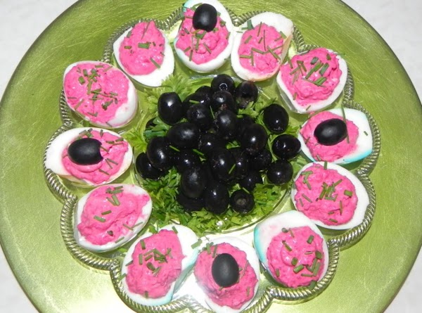 Red Beet Spread And Deviled Eggs Recipe