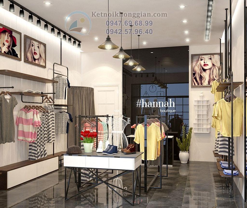 thiết kế cửa hàng thời trang nữ cuốn hút với phong cách trẻ trung cá tính