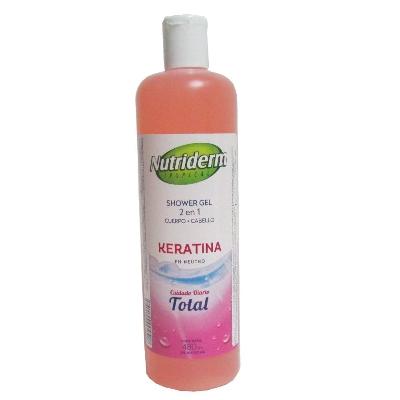 jabon liquido nutriderm keratina 480ml