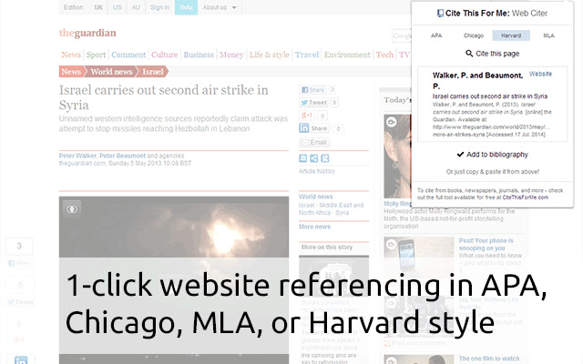 Cite This For Me: Web Citer