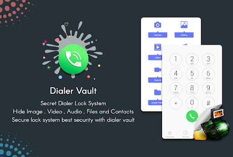Dialer vault - Photo,Video, Files & App Locker - náhled