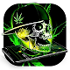 Green Weed Skull Theme Download on Windows