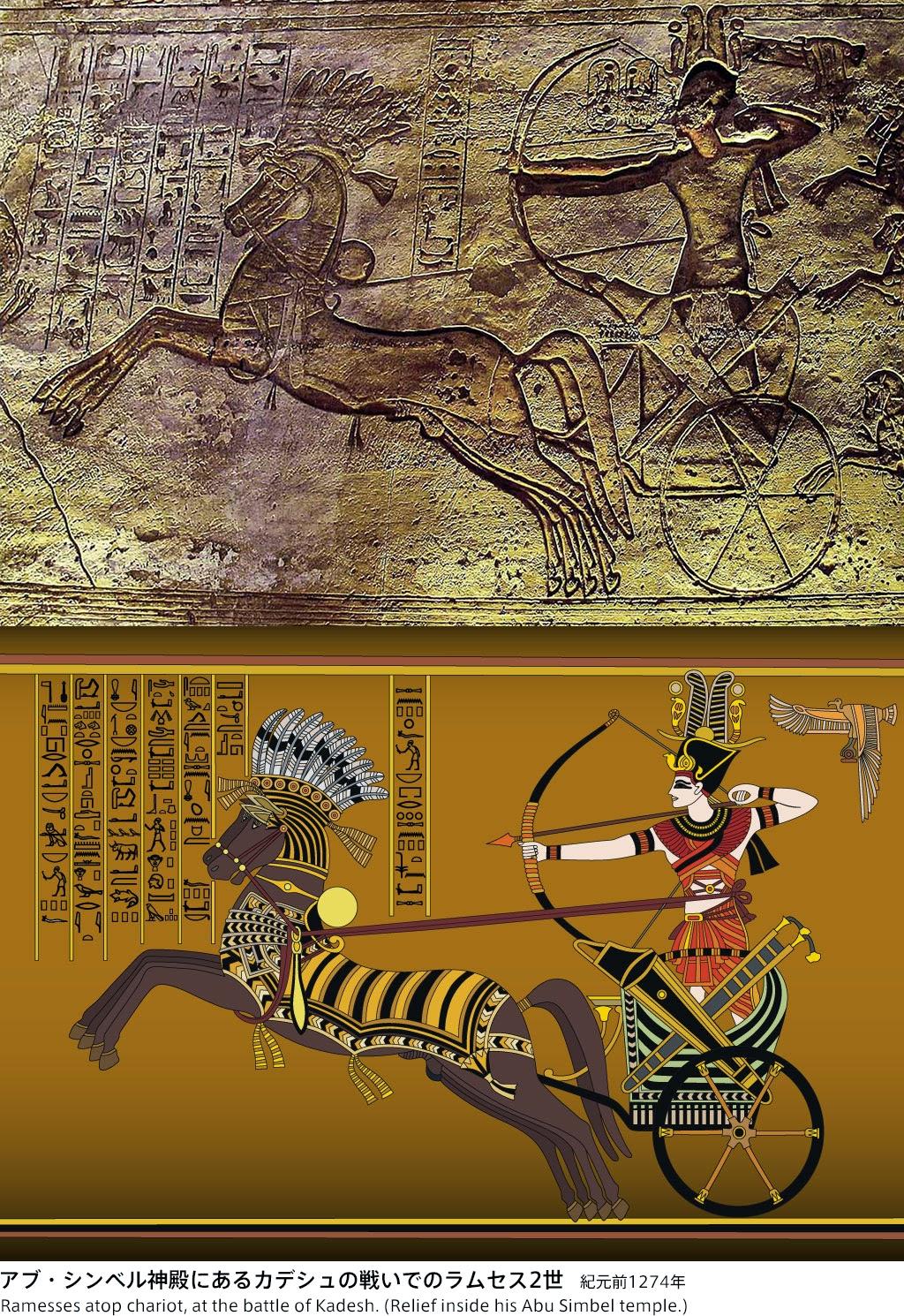Photo: Ramses II and the battle of Kadesh