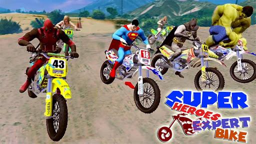 World Superheroes Bike Stunt Racing Rider 2019