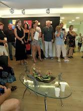 Photo: A kiállítás megnyitója az Örkény István Könyvesbolt Cultiris Galériájában