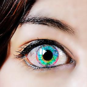 Rainbow eye by Wahyu Tri - Digital Art People