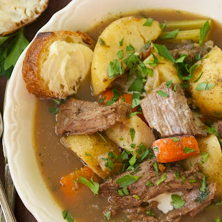 Hearty Soup of Beef Roast, Root Vegetables, and Warm Spices