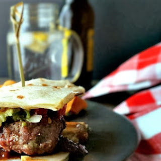 BBQ Turkey Quesadilla Burger