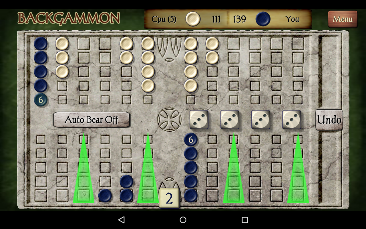 Backgammon- screenshot