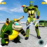 Turtle Hero Car Transform Robot Shooting Games