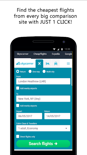Compare Flight Tickets and Hotels 1.0 screenshots 1