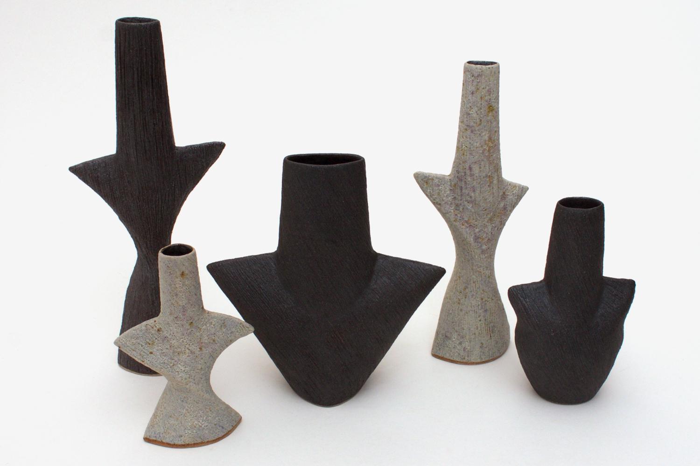 Chris Carter Ceramic Black Mask Pot 045