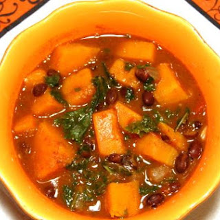 Spicy Butternut Squash & Black Bean Stew With Kale