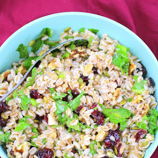 Farro Salad with Cranberries, Walnuts and Kale Recipe