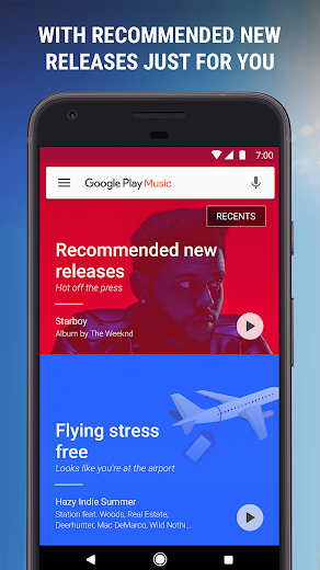 Screenshot 2 for Google Music's Android app'