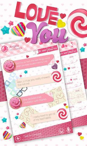 (FREE) GO SMS LOVE YOU THEME screenshot 1
